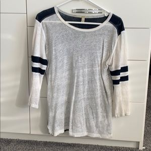 J crew linen blend 3/4 sleeve tshirt